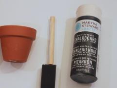 DIY Chalkboard Planters