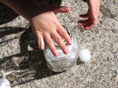 Snowman Milk Bottle