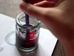 Straw Quill Pens & Homemade Ink