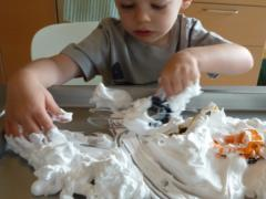 Shaving Cream + Toys Sensory Play