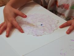 Doily Snowflake Painting