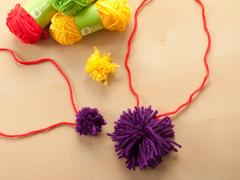 Pom-Pom Necklace