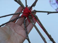 Sticks + Yarn = Nature Star