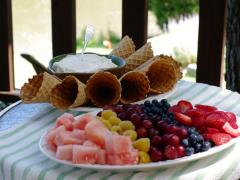 Fruity Cone Dessert Buffet
