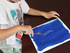 Scrape Painting