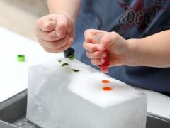 Salt Painting Ice Sculptures