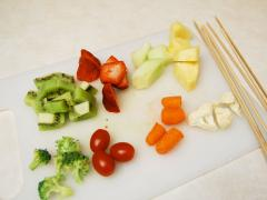 Fruit and Vegetable Kabobs