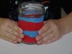 Red, White and Blue Mason Jar Luminaries