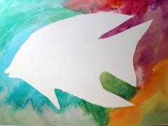 Watercolor Resist Painting