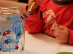 Painted Star Jar
