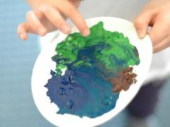 Melted Crayon Planets