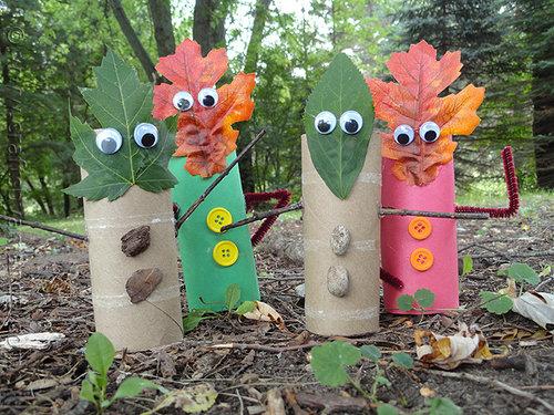 Fall Leaf Finger Puppets