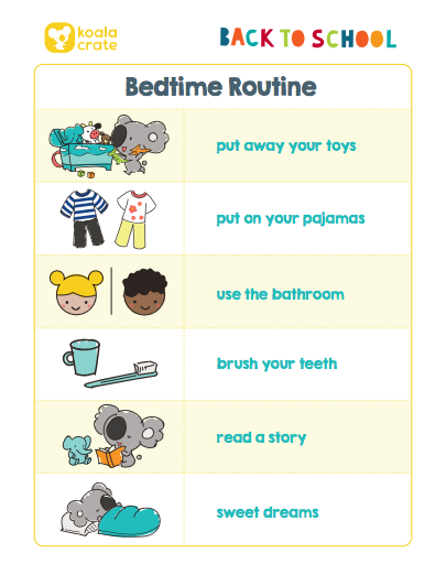 Back To School Printable Routines I Kiwi Crate