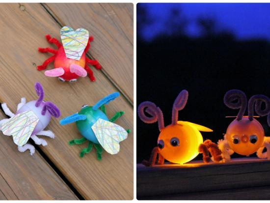Plastic Egg Fireflies