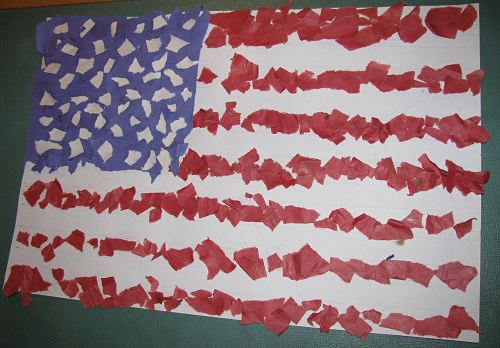 crafts diy ideas an american mosaic paper flag collage 1750