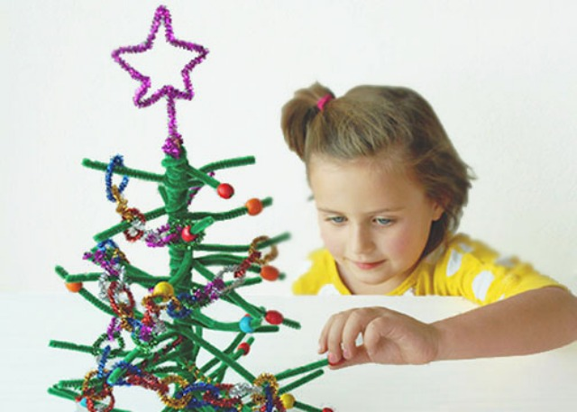 pipe cleaner christmas tree - Pipe Cleaner Christmas Tree