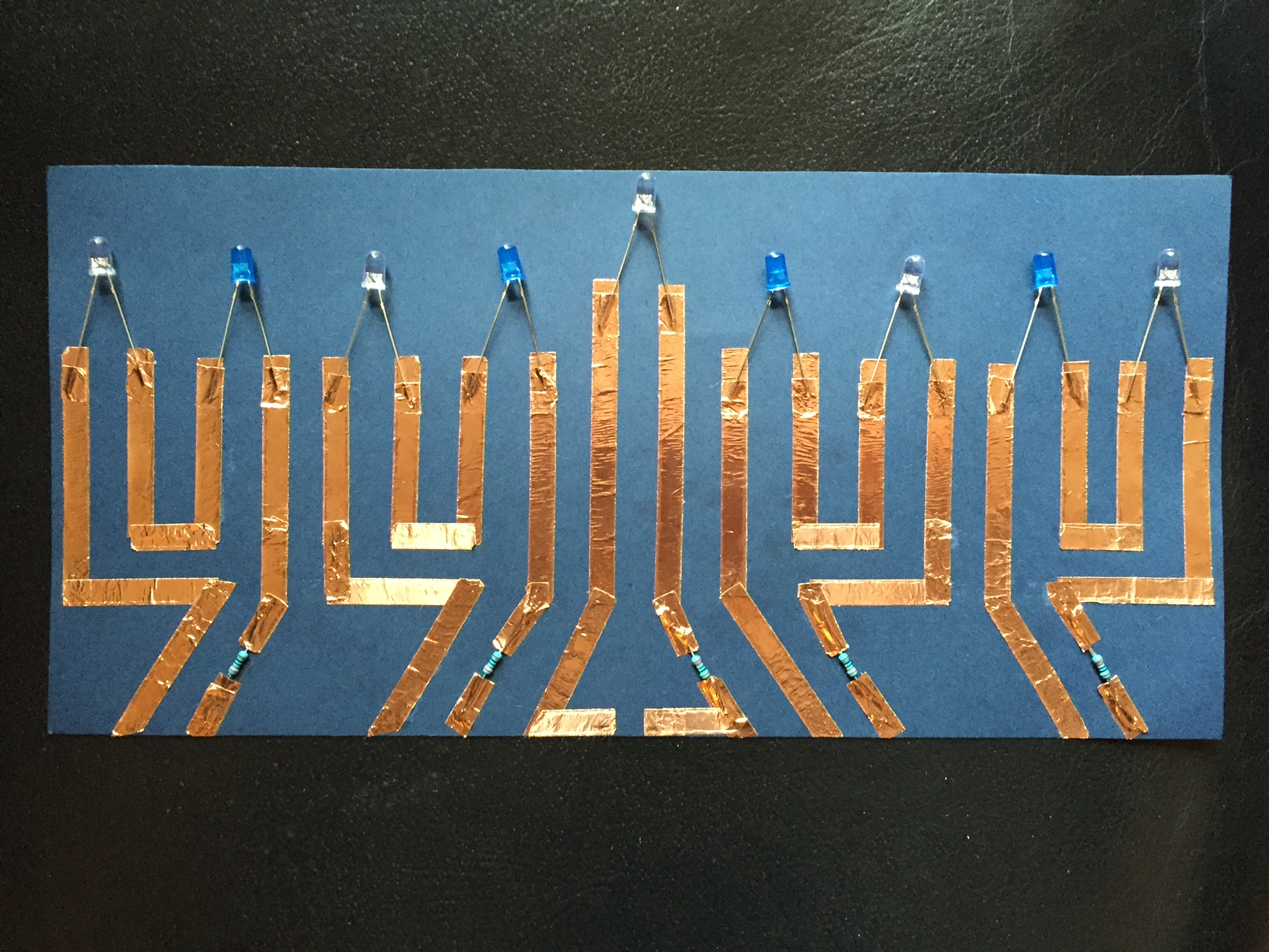 Paper Circuit Menorah In Addition Electronic Led Candle Circuits Further Simple